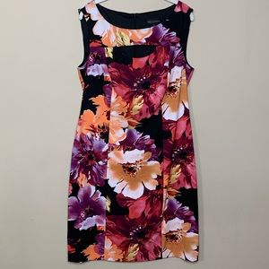 Connected Apparel Floral Dress with Cutout